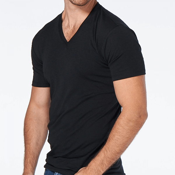 The Manhattan V-Neck in Black