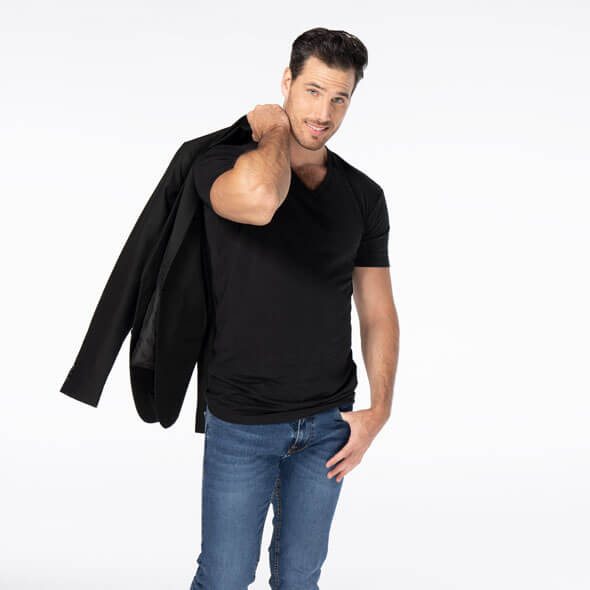 comfortable-black-v-neck