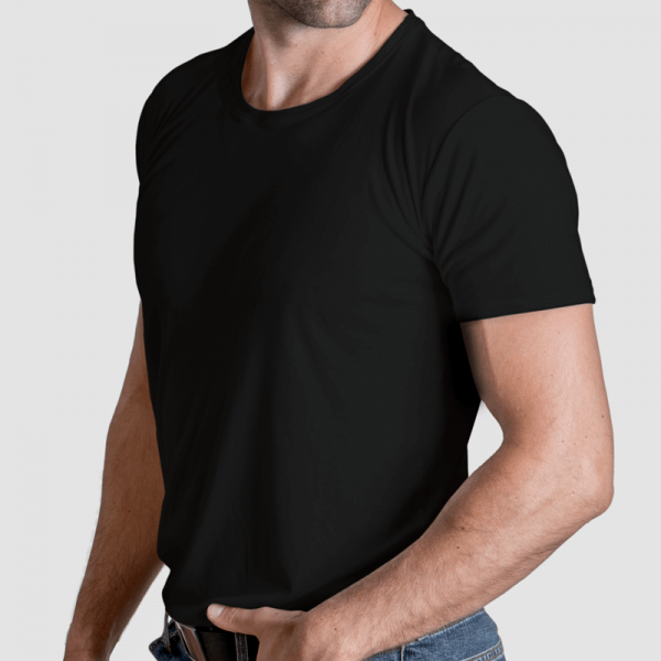 black undershirt