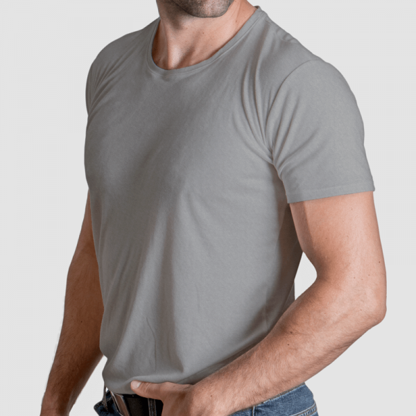 gray undershirt