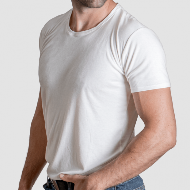 comfortable undershirt white